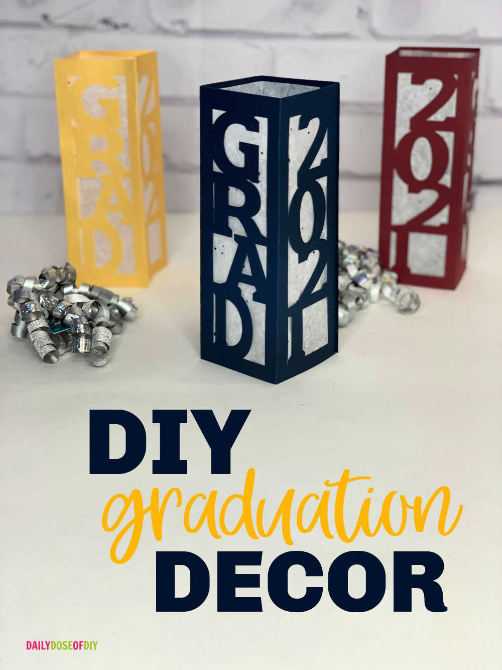 Diy Graduation Decor Centerpieces